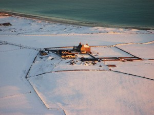 Aerial View of the West Manse - winter 2011