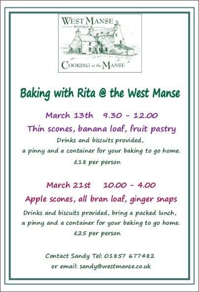 Baking with Rita at the West Manse